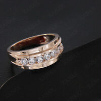 10K Rose Gold Mens Genuine Gold 9 MM Wedding Band Ring 1.0 Ct NEW