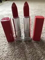 Lot of 2 Maybelline Lipsticks-(385) Ruby For Me and (382)Red For Me Matt/Mat