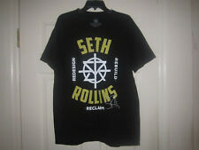 ADULT WWE SETH ROLLINS T SHIRT WRESTLING TEE RIPPLE JUNCTION ROH THE SHIELD L