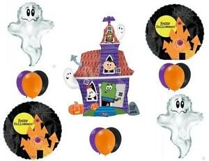 HALLOWEEN HAUNTED HOUSE Party Balloons Decoration Supplies Trick Or Treat Ghosts