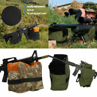 Portable Shooting Range Rifle Rest Front Rear Support Bag Unfilled Sandbag CO