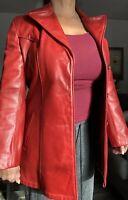 Women's Vintage SCHOTT NYC Rose Leather Dress Jacket Medium Made In USA