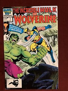 The Incredible Hulk and Wolverine #1 (Marvel 1986)  VF/NM Condition.  Key!
