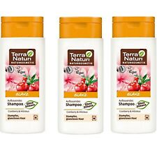 Lot de 3 Shampooing cranberry Bio Vegan cheveux ternes cassants - TERRA NATURI