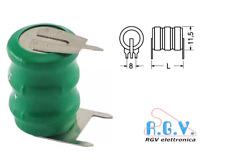 Batteria ricaricabile NI-MH 3,6V 40mAh circuito stampato a saldare NiMH 8x11,5mm