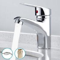 Bathroom Basin Sink Mono Mixer Tap Chrome Single Lever Taps Faucet + Free Hose