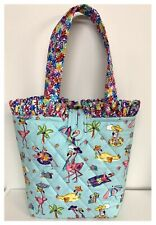 NEW Handmade Tote Purse handbag Flamingo Bird Beach Summer bag faffygiraffe