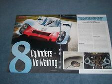 """1968 Porsche 908 Track Drive and Info Article """"8 Cylinders - No Waiting"""""""