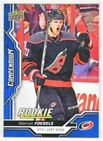 2018-19 Upper Deck Compendium Series 2 BLUE ROOKIE RC Warren Foegele