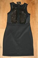 NEW&TAGS dress SIZE 10 stretch bodycon sequin panels party club scuba pencil