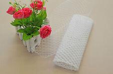 Wedding Veil Birdcage Millinery Net White 1 Yard French Veiling Fascinator DIY
