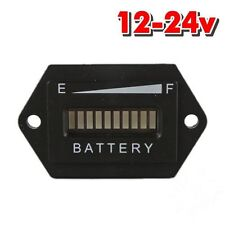 12- 24 Volt Auto LED Cart Digital LED Battery State of Charge Indicator Meter