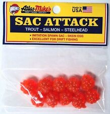 Sac Attack, Imitation Spawn Sacs/Skein Egg, THREE Packs, for Salmon,Trout #41023