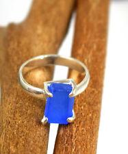 925 Sterling Silver 13 Ct Tanzania Blue Tanzanite Natural Gemstone Rough Ring