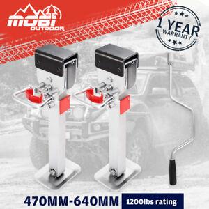 MOBI 470mm Drop Down Corner Legs Caravan 1200LBS Stabilizer Steel Legs 4PCS