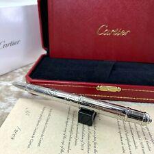 Limited Edition Cartier Diabolo Cinema Decor Silver Ballpoint Pen w/ Onyx (NEW)