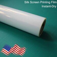 17x100ft Rollwaterproof Inkjet Milky Transparency Film Silk Screen Printing