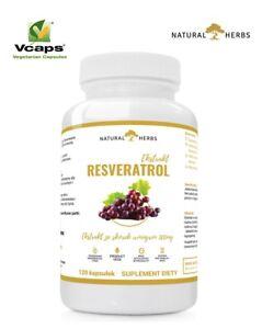 Resveratrol Extrakt 500mg + probiotische 120 kaps - Vitis vininfera L  VegeKaps