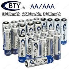 Lot 4~30pcs  BTY 1.2V AA AAA 1000mAh 2500mAh 3000mAh Ni-MH Rechargeable Battery