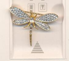 KENNETH LANE  CLEAR CRYSTAL DRAGONFLY PIN