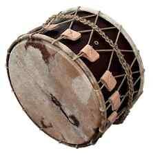 """Davul Mittelalter Trommel / Medieval Basedrum, 20,5"""" x 12,5"""", Dark Brown, B-WARE"""