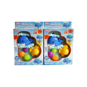 Danny The Dolphin Bath Set with Suction Cup & Accessories Lots of Bath time Fun