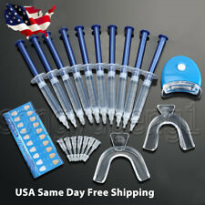 USA Teeth Whitening Kit (10) Tubes (2) Trays (1) White LED Light Best 44% CP Gel