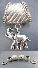 US SELLER-lucky elephant pendant slider scarf ring scarf jewelry slides
