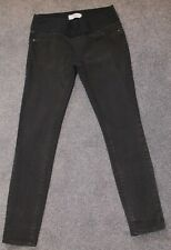 """Stretch skinny maternity jeggings from New Look, black, size 10, leg 30"""","""