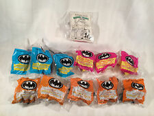 12 McDonalds Happy Meal Toys, 1991, Batman, Penguin, Catwoman - NEW/ Sealed -
