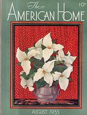 1933 American Home August-Houses in Winona MN; Mount Vernon NY; Lamps; ice Cream