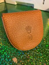 Extremly Rare Vintage Rolex Leather pouch Pocket watch coin Purse 100% genuine