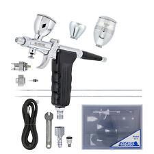 Master G77 Pistol Trigger Gravity Feed Airbrush, 2 Tips, Spray Gun Fan, 3 Cups