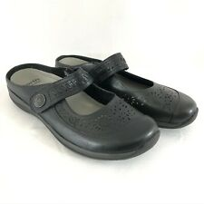 Earth Womens Flats Kara Hopper Mary Jane Leather Laser Cut Black Size 9.5W Wide