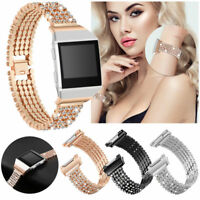 Smart Watch Bands Strap For Fitbit Ionic Metal Bracelet Wrist Band Rhinestone