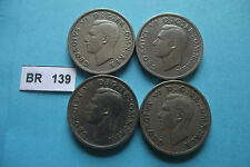 GREAT BRITAIN. GEORGE VI. 4 COINS@FLORIN (1948-1951)#BR139