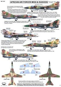 Berna Decals 1/72 AFRICAN AIR FORCES MiG and SUKHOI FIGHTERS