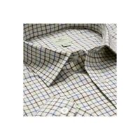 Hoggs of Fife Hoggs Pure Cotton Tattersall Check Shirt Wine & Navy