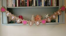 Personalised Birthday Bunting Decoration Party Banner Heart Shaped