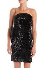 Bnwt 100% Auth Zadig & Voltaire noir raleg Sequin Velvet Bustier Robe UK 10