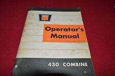 Oliver White Tractor 430 Combine Operator's Manual BVPA