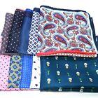 10 Pieces set 32CM Large Handkerchief Man Paisley Flower Dot Pocket Square Hanky