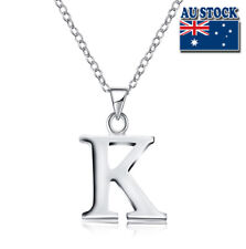 Wholesale925 Sterling Sliver Filled Letter K Personalised Pendant Chain Necklace