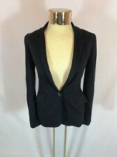 Women's Navy Aritzia TALULA Cotton Blend One Button Blazer Size Double Zero (00)