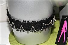 jarretière luxe dentelle noire NAUGHTY JANET taille M NEUF ÉTIQUETTE valeur 68€