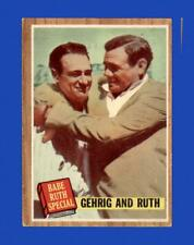 1962 Topps Set Break #140 Babe Ruth/Lou Gehrig VG-VGEX *GMCARDS*