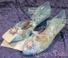 Disney Frozen Elsa Girls Light Up Shoes with Buckle/ Strap 13-1 W/ Tags!