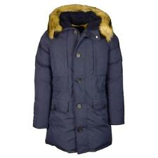 Armani Jeans Faux Fur Down Filled Hooded Parka Coat Size 52 Large £500 Blue