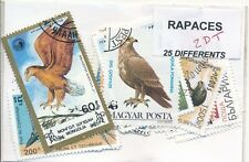 ZDT - RAPACES : 25 TIMBRES DIFF. OBLI. Ts PAYS