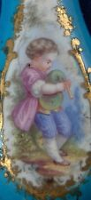 Rare 18thC Sevres French Softpaste Bleu Celeste Porcelain Page Turner Porzellan
